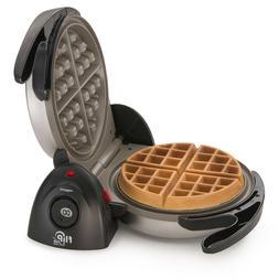 Flip Side Belgian Waffle Maker with Ceramic Non Stick Grid T
