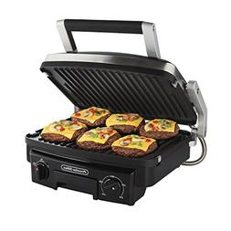 Proctor Silex 5-in-1 Indoor Countertop Grill, Griddle & Pani