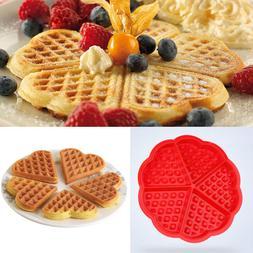 1 pcs Creative Non-stick Food Grade Silicone <font><b>Waffle