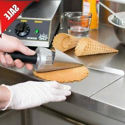 """10"""" Stainless Steel Waffle Cone Maker Ice Cream Roller Mold"""