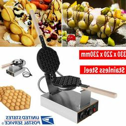 110V Round Waffle Maker Machine Muffin maker Commercial Nons
