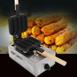 1500W Commercial 4pcs NonStick lolly Waffle Maker Hot Dog Ma