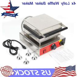 1500W Electric Lolly Waffle Stick Waffle Maker Baker Nonstic