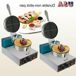 2× Electric Waffle Maker Commercial Double Waring Egg Cake