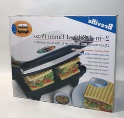 Breville 2-in-1 Panini Press NIB  Sandwich Maker Grill