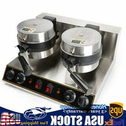 2 Rotating Belgian Waffle Maker Commercial Double Waring Bre
