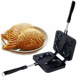 2 Sided Japanese Taiyaki Fish Shaped Casting Mold Pancake Wa