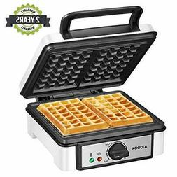 2 Slice Non-Stick Belgian Waffle Maker 1200W No-Drip Waffle