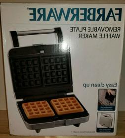 Farberware 2 Slice Removable Plate Waffle Maker Nonstick S62