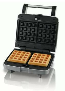 2-Slice Waffle Maker Nonstick Removable Plate Home Kitchen C