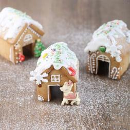 3Pcs Christmas Gingerbread House Biscuit Cutter Set Stainles