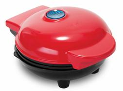 4 inch Mini waffle maker, Red, QUICK & EASY