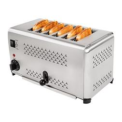 Huanyu 6-Slice Commercial Toaster Stainless Steel Electric T
