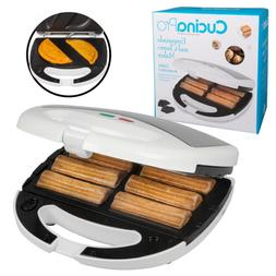 78 sq. in. White Empanada Maker and Churro Maker with Lid