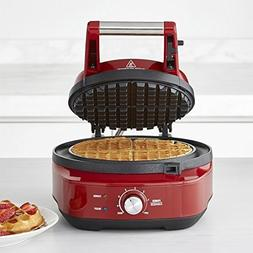 Breville the No-Mess Classic Round Waffle Maker, Cranberry R
