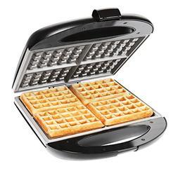 Chefman - Square Flip Waffle Maker - Black