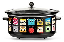 Disney DPX-7 Pixar Slow Cooker, 7 Quart, Black