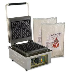 Equipex  - 20 Waffle/Hr Liege Waffle Baker w/ Mix