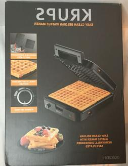 KRUPS, 4-Slice Belgian Waffle Maker With Removable Plates, S