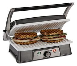 Oster DuraCeramic Infusion Series 2-in-1 Panini Maker and Gr