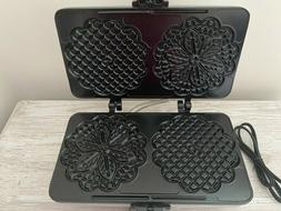 Pizzelle Maker- Non-stick Electric Pizzelle Baker Press Make