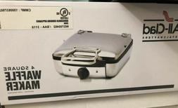 All-Clad 4 Square Waffle Maker, Stainless, WD700462, ** Free