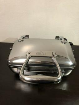All Clad Belgian WAFFLE MAKER, 2 Slice Stainless steel WAFFL