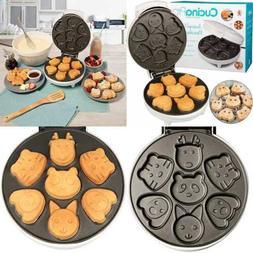 Animal Mini Waffle Maker Makes 7 Fun Different Shaped Pancak