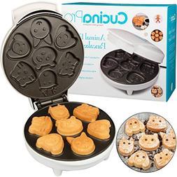 Animal Mini Waffle Maker- Makes 7 Fun, Different Shaped Panc