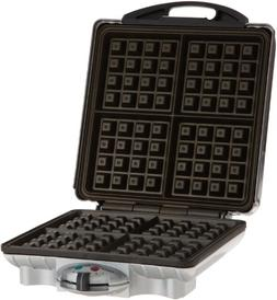 Belgian Waffle Iron By Cucina Pro - Non-stick 4-square Waffl