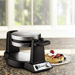 NEW CUISINART BELGIAN WAFFLE MAKER 1200 WATT, 6 SETTINGS, 1