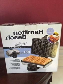 "Hamilton Beach Belgian Waffle Maker Baker ""NEW  in Box"""