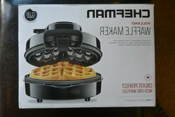 Chefman Belgian Perfect Pour Volcano Belgian Waffle Maker, N