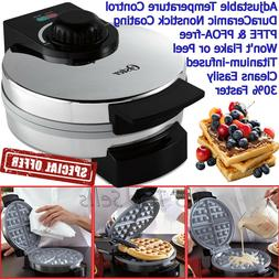 Belgian WAFFLE MAKER Commercial DuraCeramic Nonstick Coating