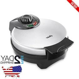 BELGIAN WAFFLE MAKER Commercial Stainless Steel Round Breakf
