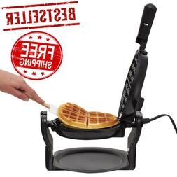 Belgian Waffle Maker Flip Cast Iron And Grill Hotel Iron Bes