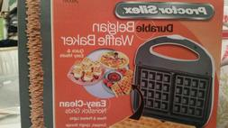 belgian waffle maker new in box  durable quick and easy