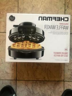Chefman Belgian Waffle Maker No Overflow Perfect Pour Volcan
