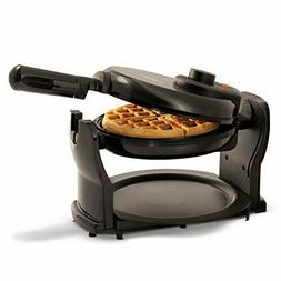BELGIAN WAFFLE MAKER Rotating Commercial Non Stick Round Waf