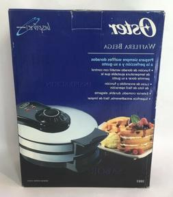 Oster Belgium Waffle Maker Non Stick Adjustable Temperature
