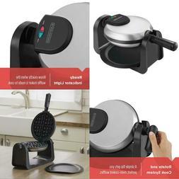 Black+Decker Belgian Flip Waffle Maker, Black/Silver, Wm1404