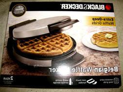 BLACK+DECKER Belgian Waffle Maker, Stainless Steel, WMB500 N