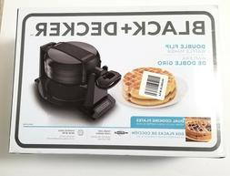 BLACK+DECKER Double Flip Waffle Maker with Dual Cooking Plat