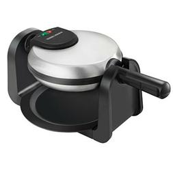 BLACK+DECKER Flip Waffle Maker/ Iron, Silver, Perfect for Pa