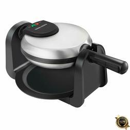 BLACK+DECKER Flip Waffle Maker, Stainless steel, Silver, WM1