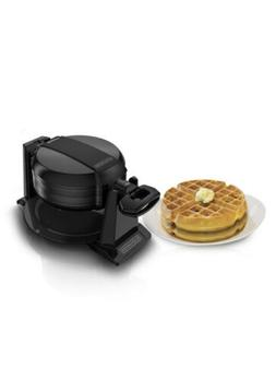 Black+Decker - Rotating Waffle Maker - Cast Iron- Gloss Blac