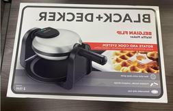BLACK+DECKER Flip Waffle Maker, Silver, WM1404S