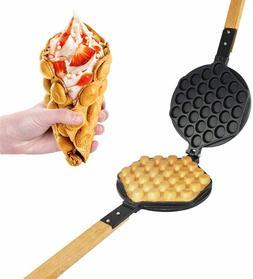 ALDKitchen Bubble Waffle Maker Replaceable 180 Degree Rotati