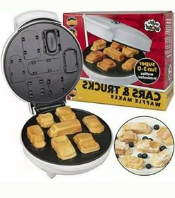 Car Mini Waffle Maker - Make 7 Fun, Different Race Cars, Tru