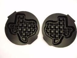 Carbon's RT-P Waffle Baker Maker Grid Plates Shape of Texas